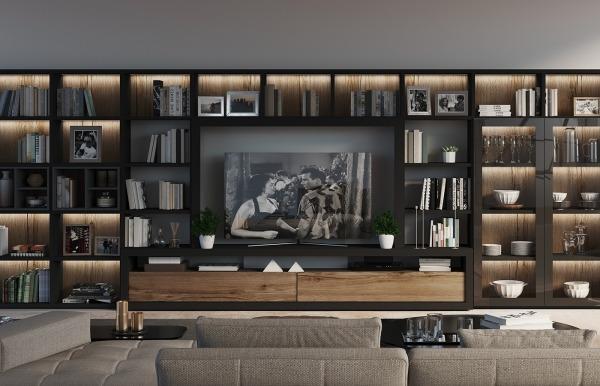 Librería TV Qubic 2.0 modelo 24 de Piñero y...