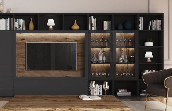 Librería TV Qubic 2.0 modelo 17 de Piñero y...