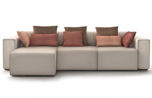 Sofá Sirocco con chaiselongue de T+Dos