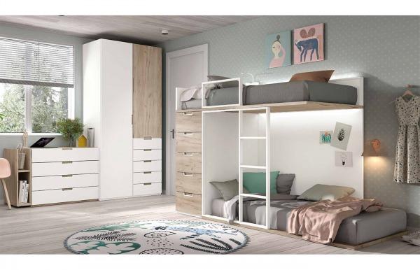 Habitación juvenil con cama tren Style 36 de...