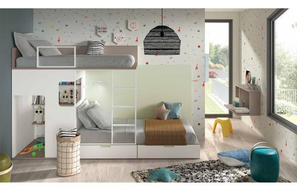 Habitación infantil con cama tren Style 43 de...