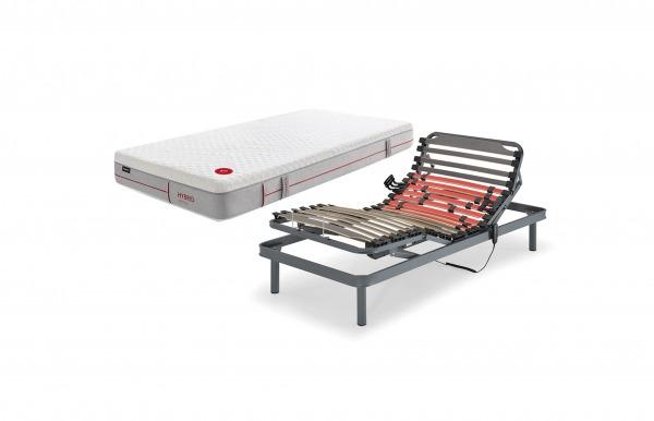 Pack cama articulada Active y colchón Hybrid...