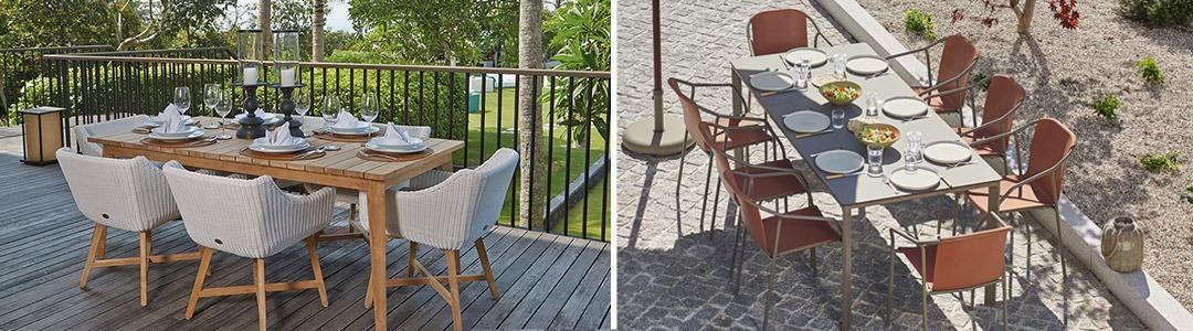 Mesas para comer de jardín