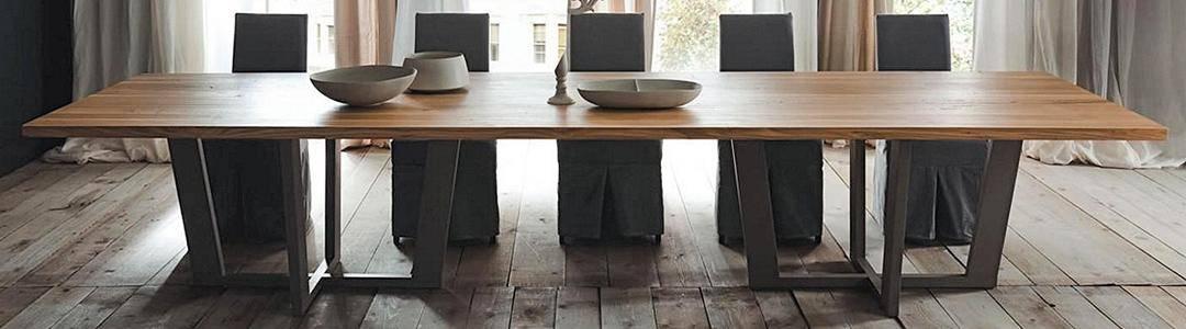 Mesas de comedor fijas grandes dismobel for Mesas de comedor grandes de madera