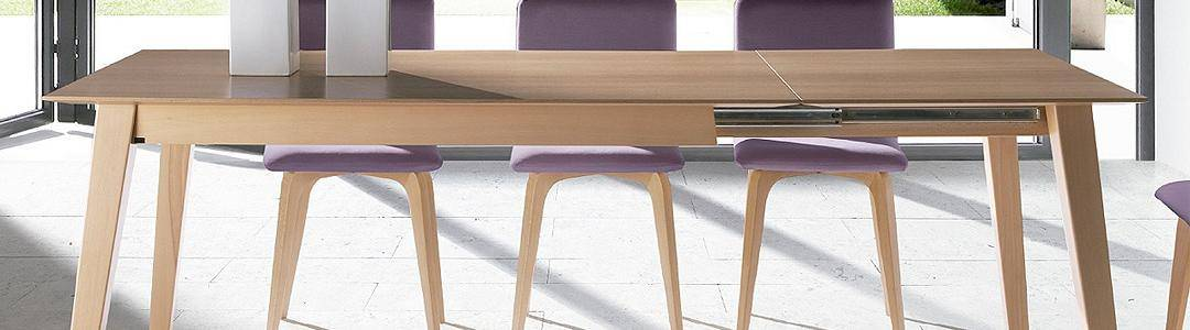 Extensibles rectangulares y cuadradas dismobel for Mesas de comedor extensibles economicas