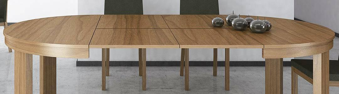 Mesas de comedor extensibles redondas y elípticas - Dismobel