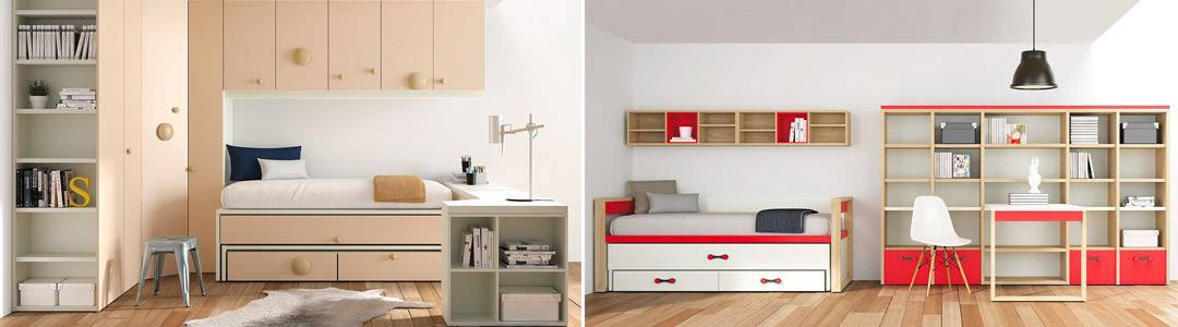 Camas nido online comprar cama nido camas juveniles for Cama nido de tres camas
