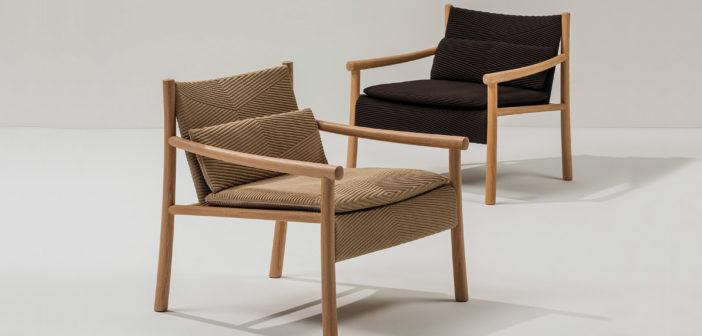 Kata, el primer sillón de madera maciza de Arper, diseñado por Altherr Désile Park inspirado en las sillas de madera y paja tejida hechas a mano