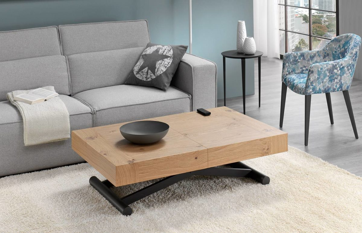 mesa de centro y mesas auxiliares dismobel