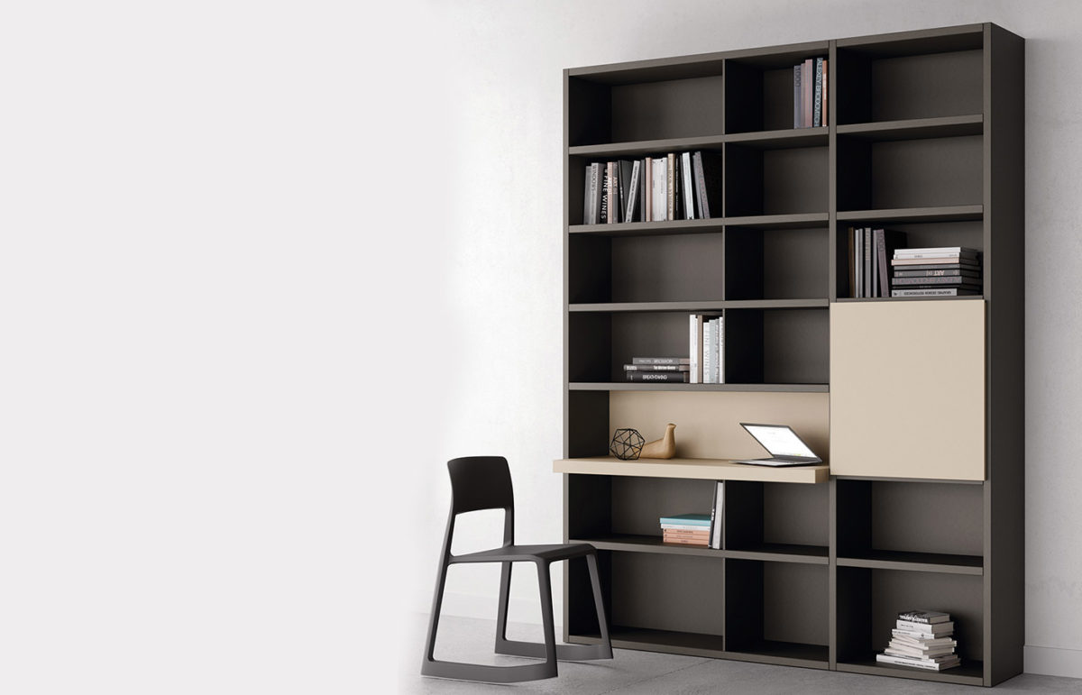 Librer as y estanter as dismobel for Librerias salon modernas