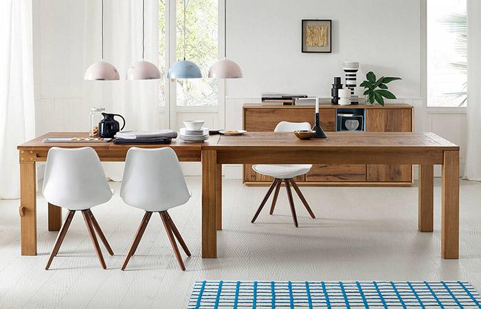Mesas de comedor extensibles rectangulares