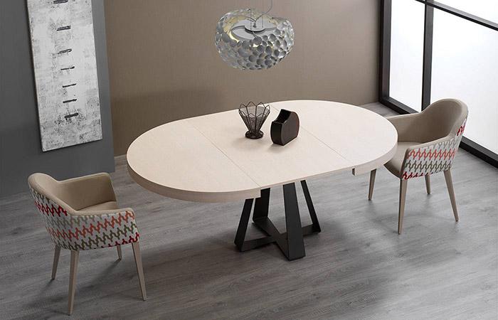 Mesas de comedor extensibles redondas