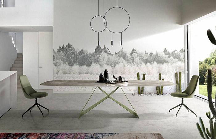 Mesas de comedor fijas grandes
