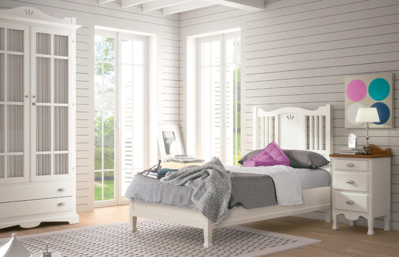 Tipos de camas infantiles que puedes elegir para las habitaciones de tus hijos - Habitaciones juveniles blancas ...