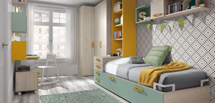 arasanz ofrece soluciones completas para dormitorios juveniles en poco espacio